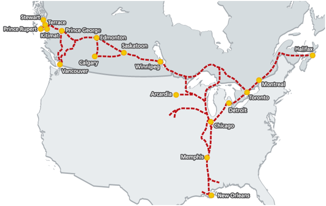 Canadas Pacific Gateway Invest In Northwest BC - Us canada border crossings map